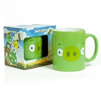 Кружка Angry birds зеленая