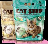 CAT STEP Tofu Комкующийся наполнитель Green Tea 6л